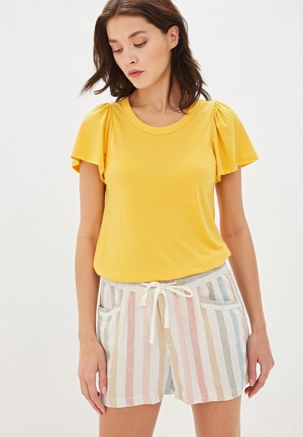 Фото - женскую футболку Gap желтого цвета