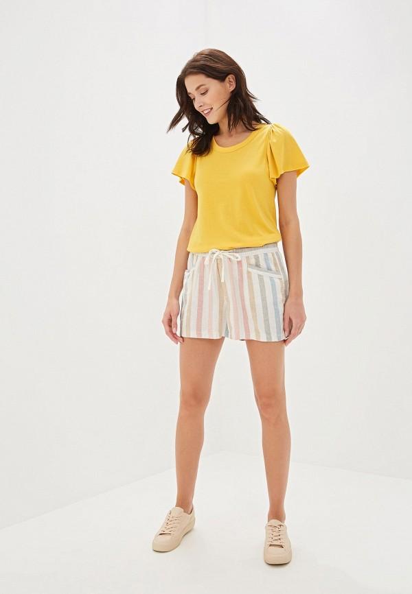Фото 2 - женскую футболку Gap желтого цвета