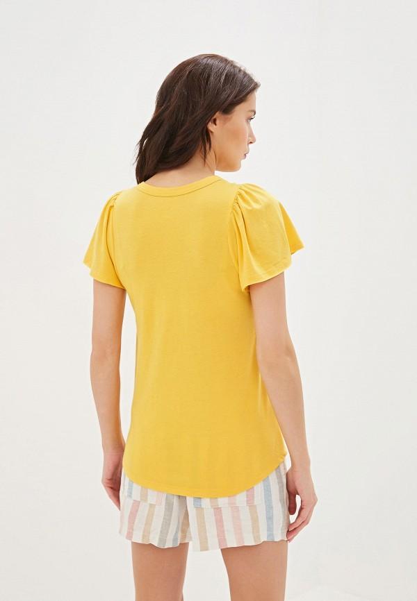 Фото 3 - женскую футболку Gap желтого цвета