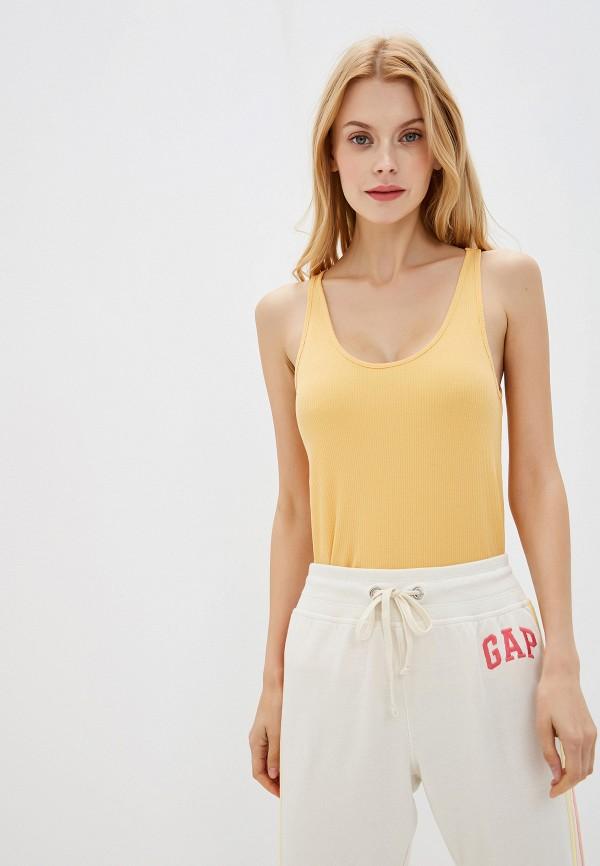женская майка gap, желтая