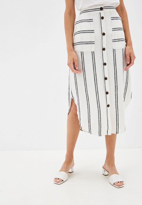 женская прямые юбка gap, белая