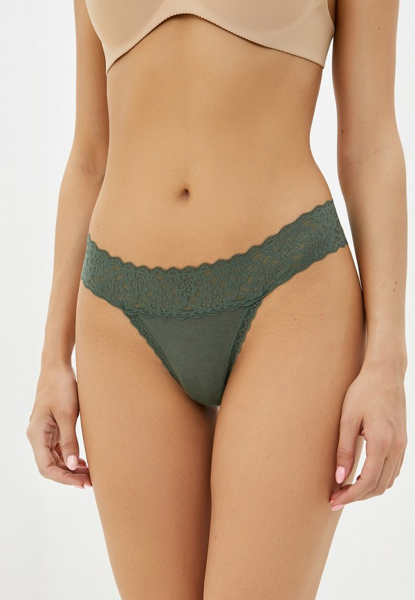 женские трусы-стринги gap, зеленые