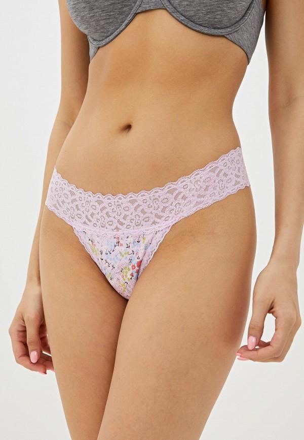 женские трусы-стринги gap, розовые
