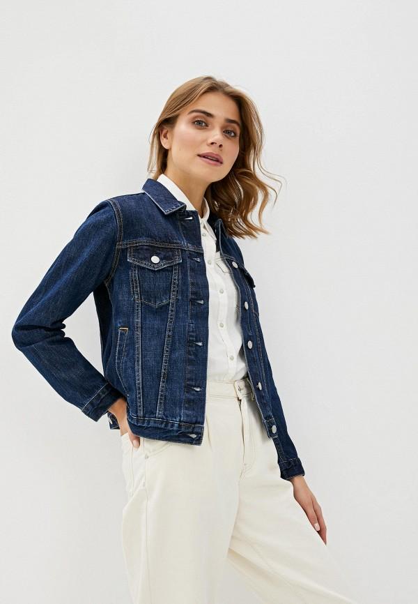 женская джинсовые куртка gap, синяя