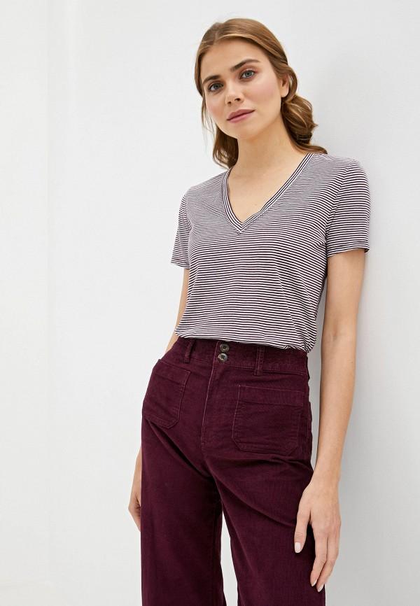 женская футболка gap, бордовая