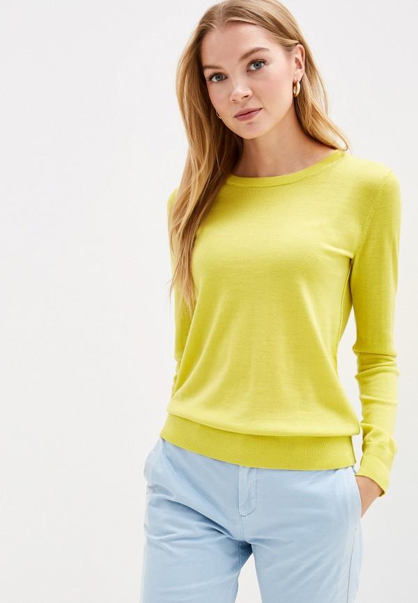 женский джемпер gap, желтый