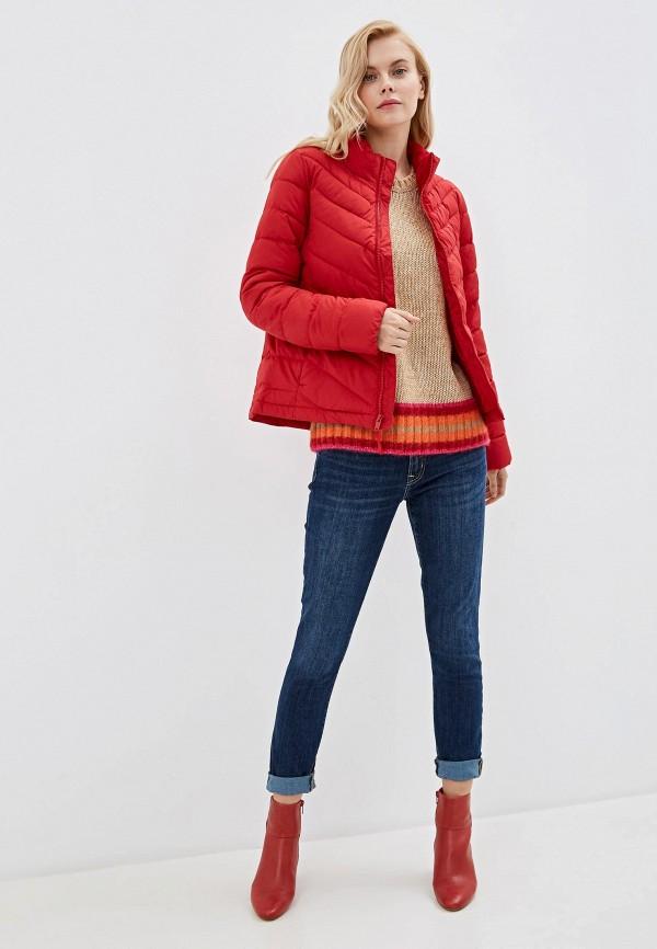 Фото 2 - Куртку утепленная Gap красного цвета