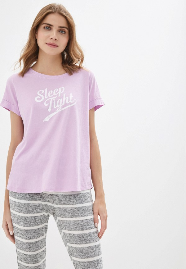 женская футболка gap, фиолетовая