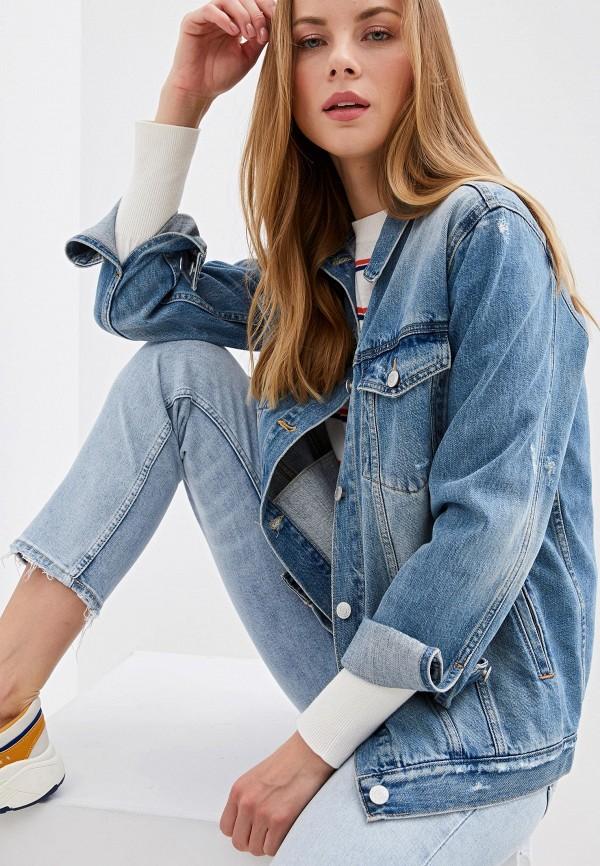 женская джинсовые куртка gap, голубая