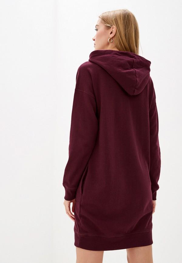 Фото 3 - женское платье Gap бордового цвета