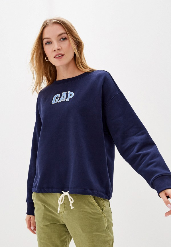 женский свитшот gap, синий