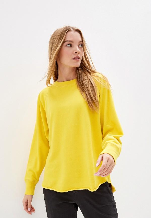 женский свитшот gap, желтый