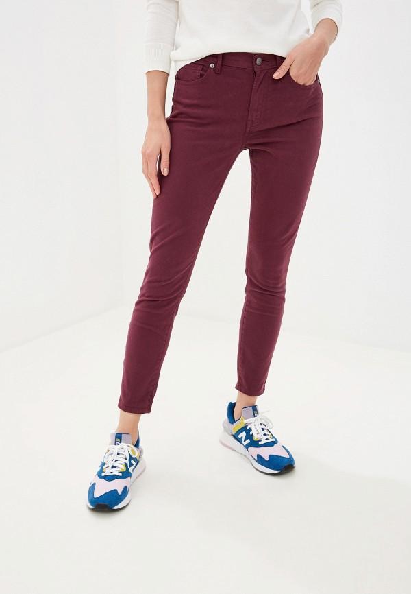 женские повседневные брюки gap, бордовые