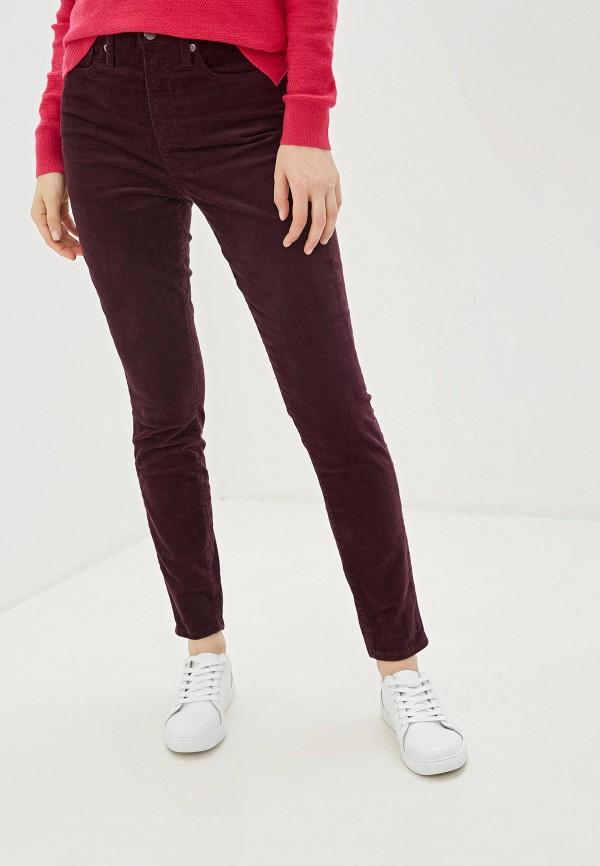 женские повседневные брюки gap, фиолетовые