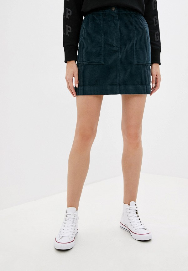 женская юбка gap, зеленая