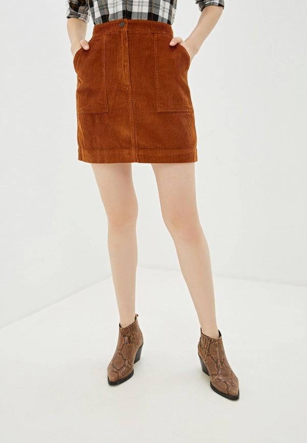 женская прямые юбка gap, коричневая