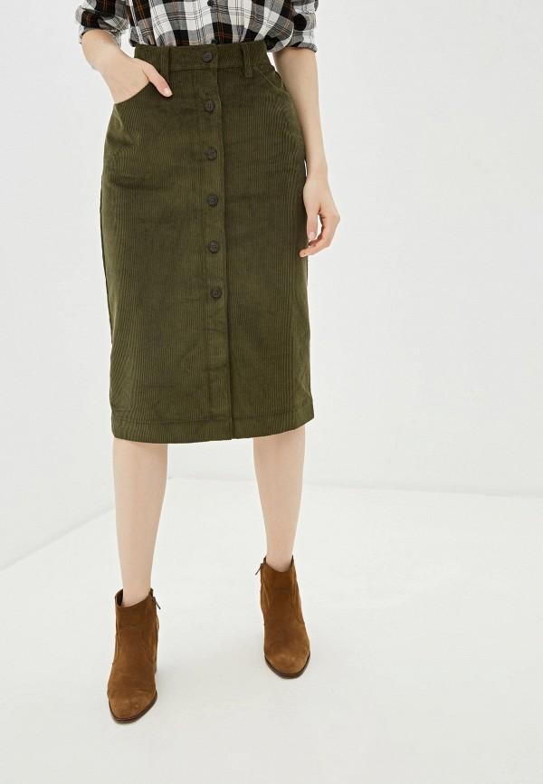 женская прямые юбка gap, зеленая