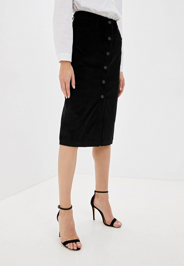 женская прямые юбка gap, черная