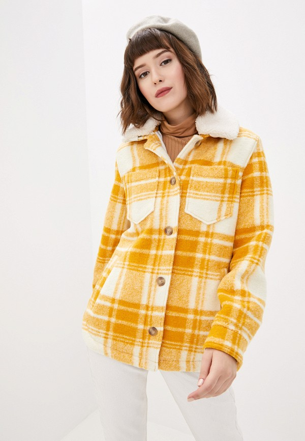 женское пальто gap, желтое