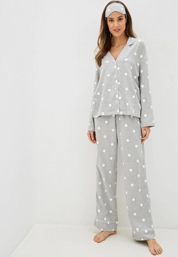 женская пижама gap, серая