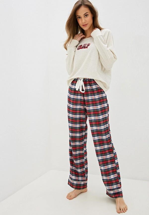 женская пижама gap, разноцветная