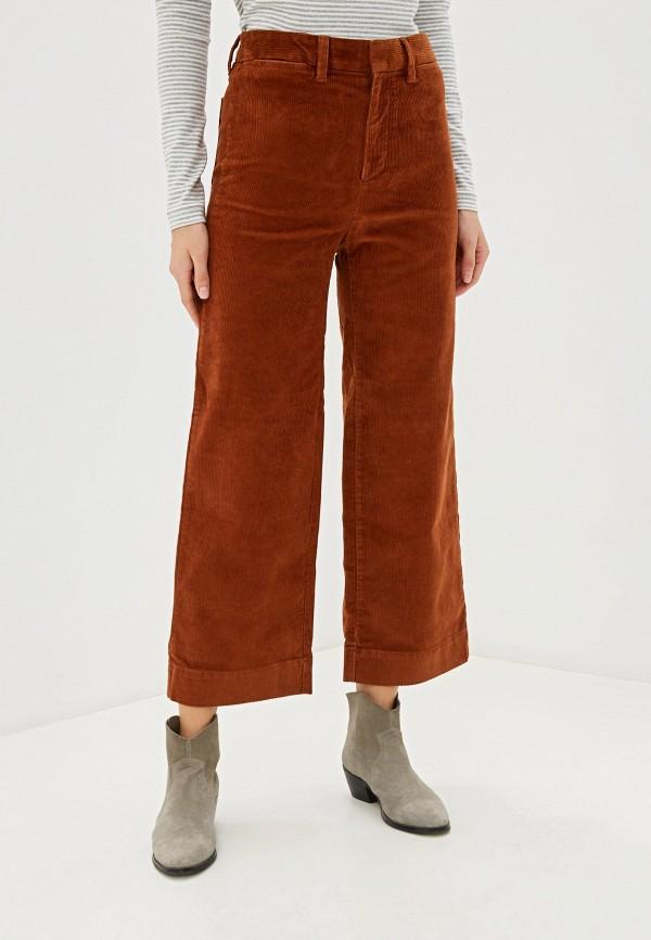 женские повседневные брюки gap, коричневые