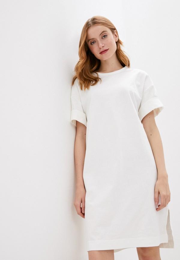 женское платье-футболки gap, белое