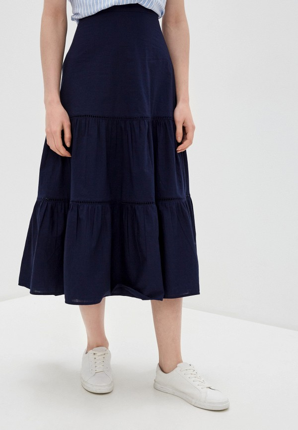 женская юбка-трапеции gap, синяя