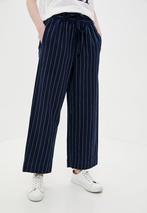 женские брюки клеш gap, синие