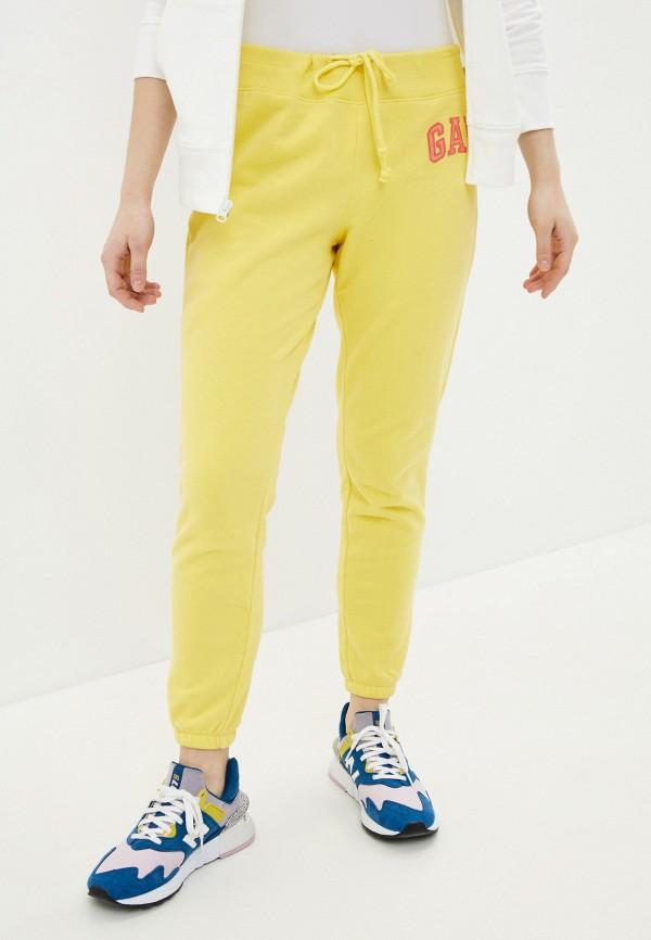женские спортивные брюки gap, желтые