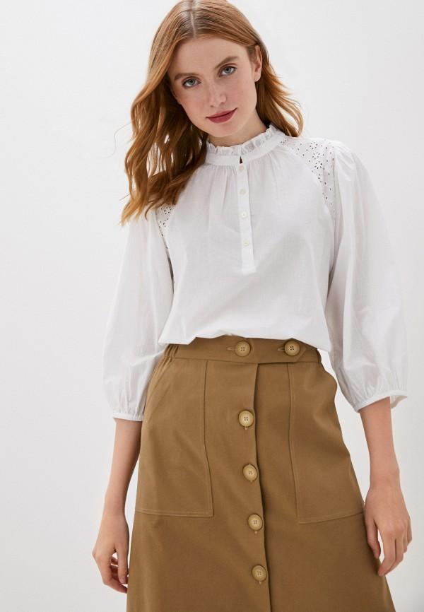 женская блузка с длинным рукавом gap, белая