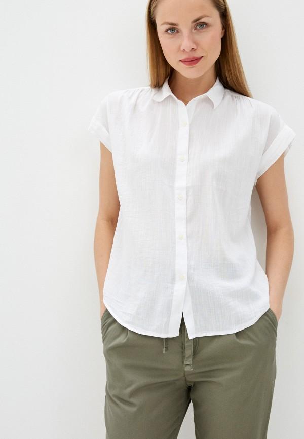 женская рубашка с коротким рукавом gap, белая