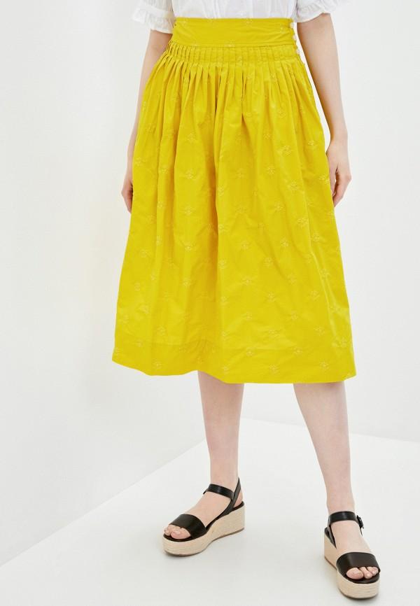 женская юбка gap, желтая