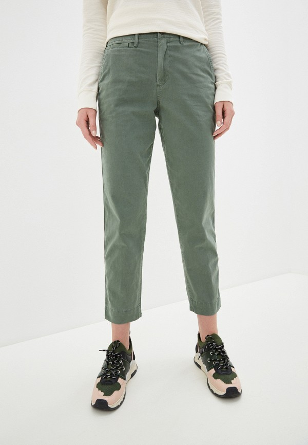 женские повседневные брюки gap, зеленые