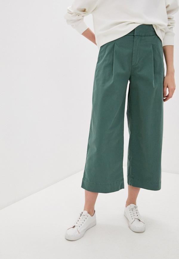 женские брюки кюлоты gap, зеленые