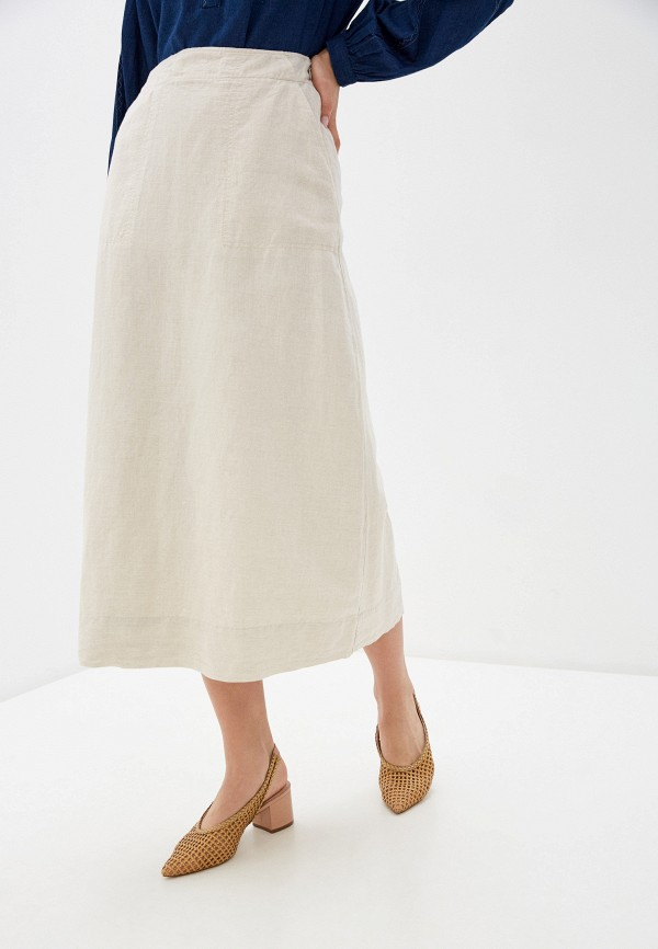 женская юбка gap, бежевая