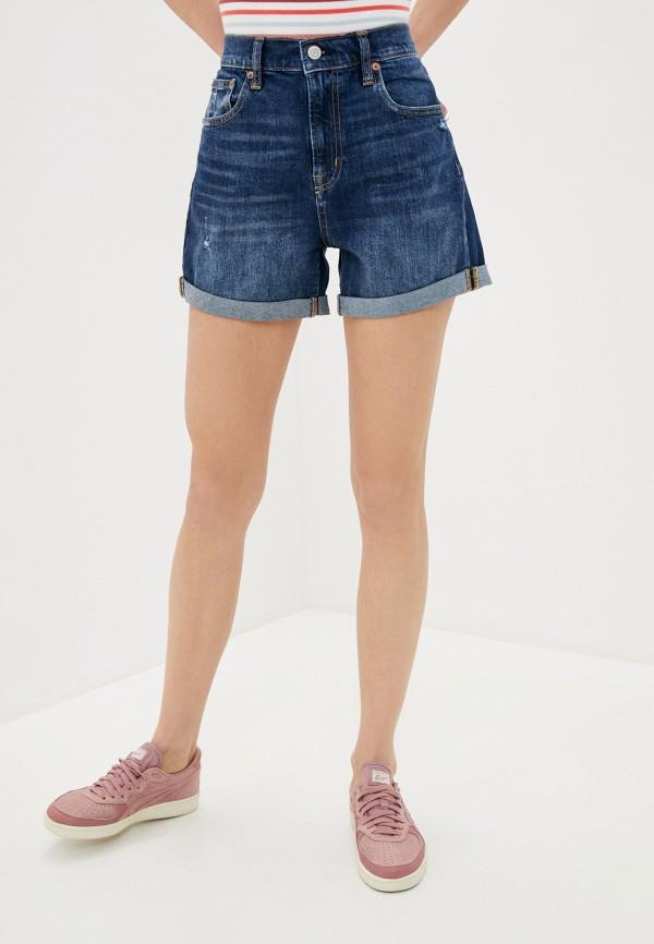 женские джинсовые шорты gap, синие