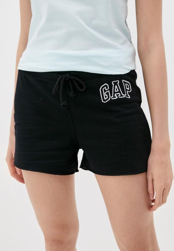 женские спортивные шорты gap, черные