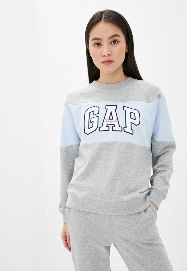 женский пуловер gap, серый