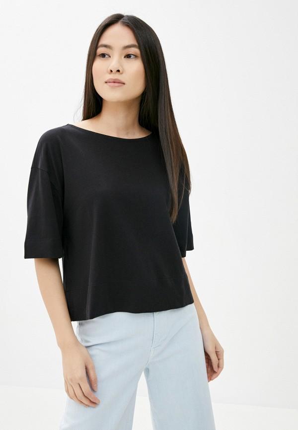 женская футболка gap, черная