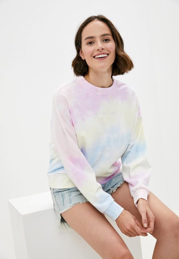 женский свитшот gap, разноцветный