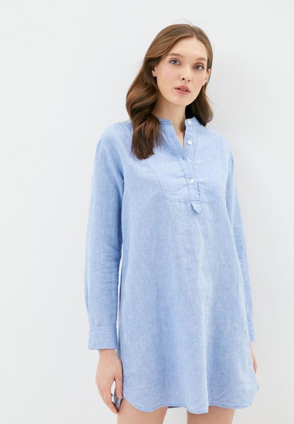 женское повседневные платье gap, синее