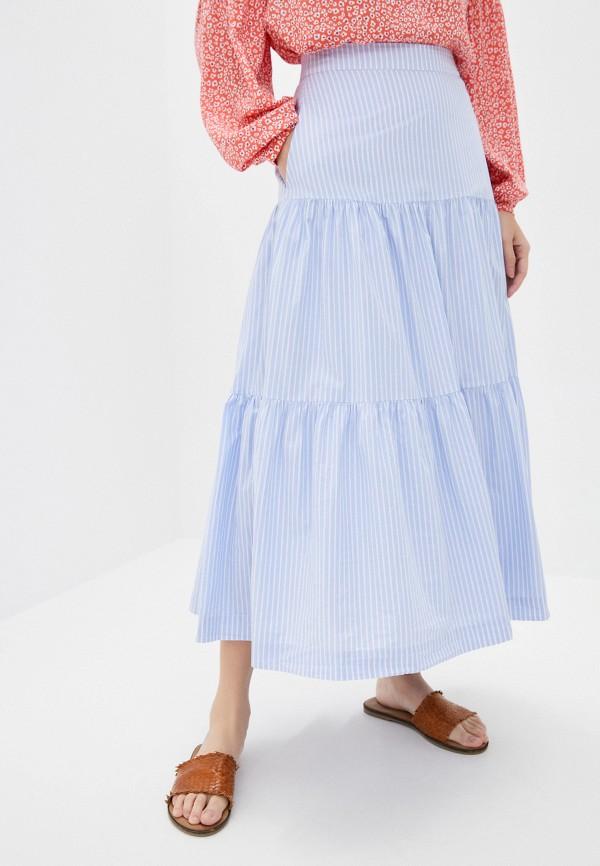женская юбка gap, голубая