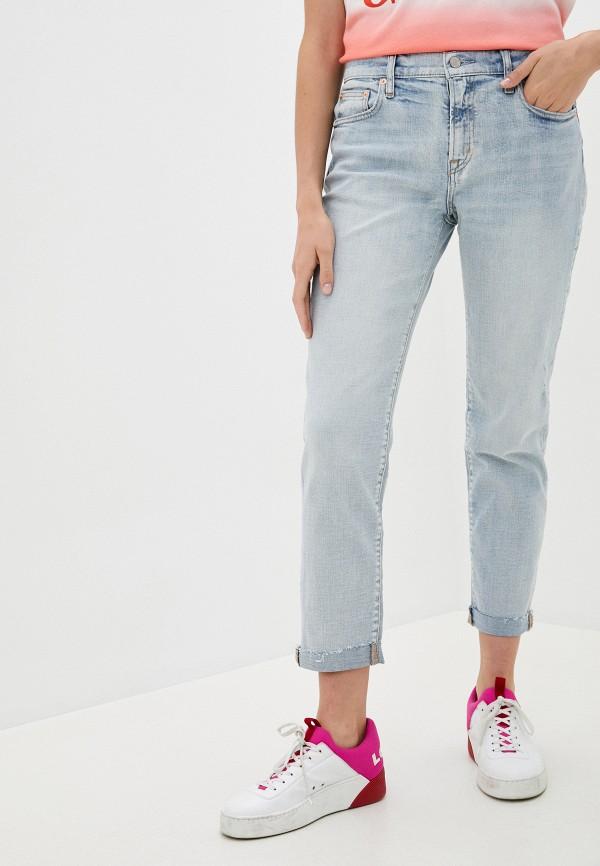 женские прямые джинсы gap, голубые