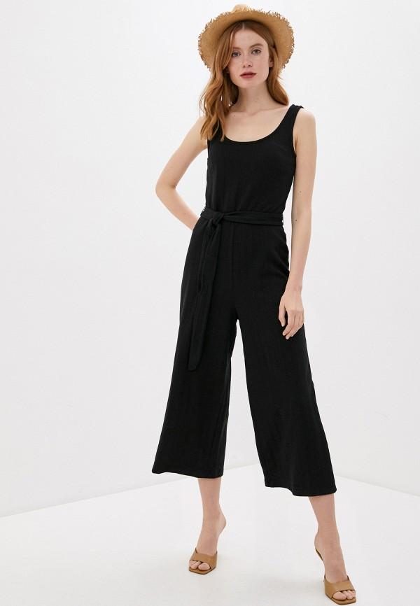 женский комбинезон с брюками gap, черный