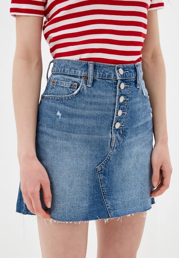 женская джинсовые юбка gap, синяя