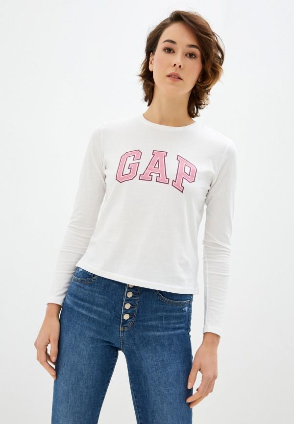 женский лонгслив gap, белый