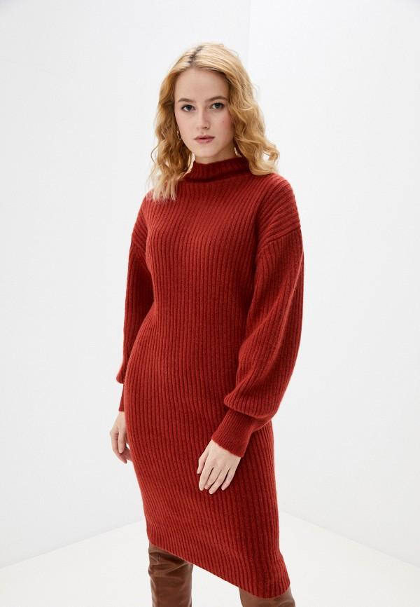 женское платье gap, красное