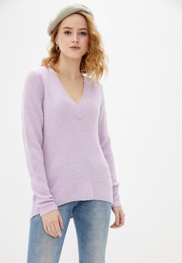 женский пуловер gap, фиолетовый