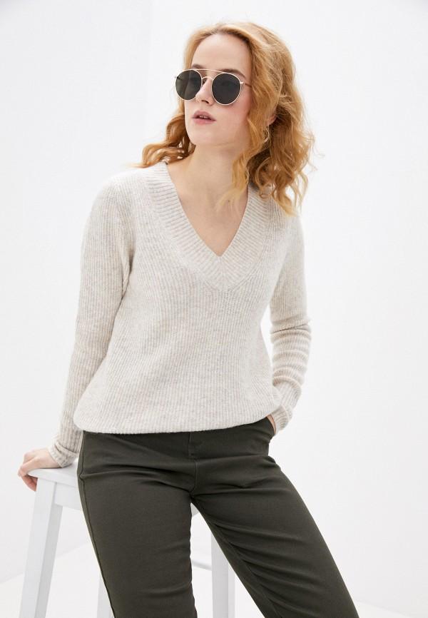 женский пуловер gap, бежевый